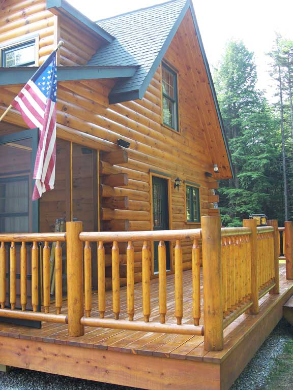 Clark 39 s painting for Log cabin interior paint colors