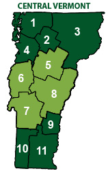 Central Vermont Map