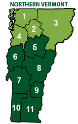 Northern Vermont Map