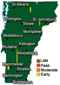 Early Foliage Map August 2013