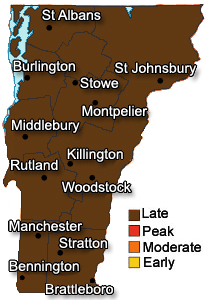 Vermont Foliage Map