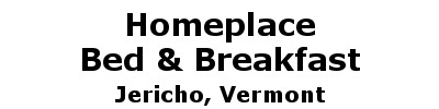 Homeplace Bed & Breakfast | Jericho, VT