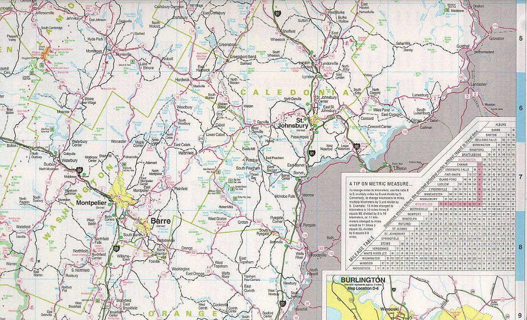 Vermont Maps State City County And More: Map Of Central Vermont At Usa Maps