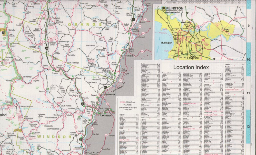I Am America Map Golden Cities.Vermont Maps State Maps City Maps County Maps And More
