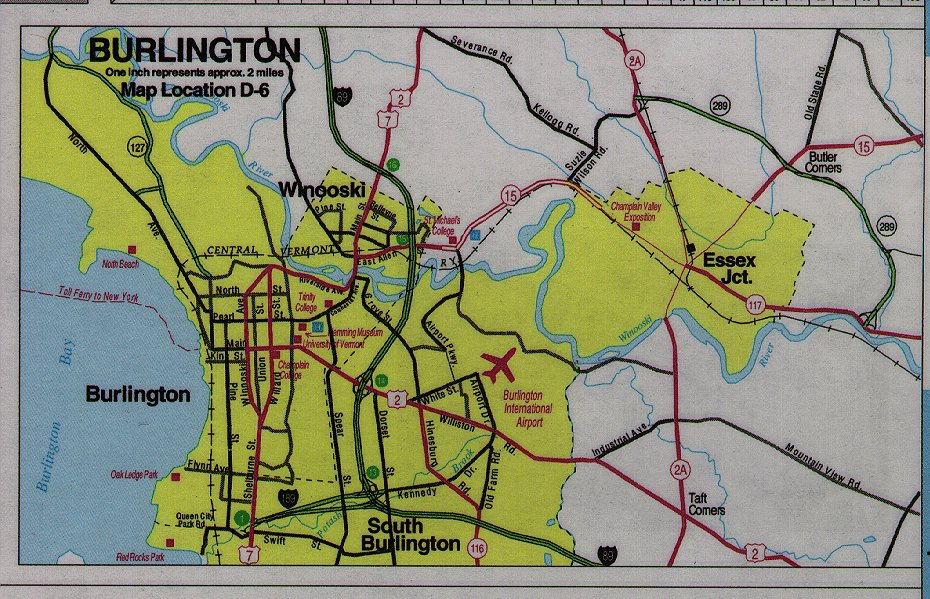 Vermont Maps State Maps City Maps County Maps And More - Burlington map