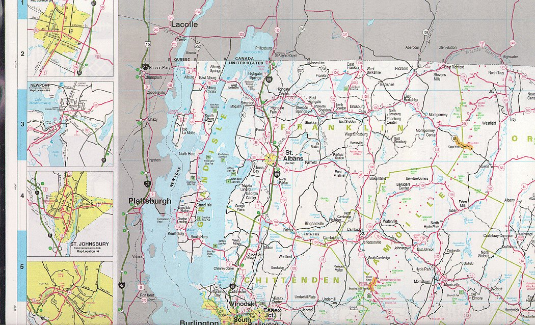 Vermont Maps State Maps City Maps County Maps And More - Road map of eastern us states