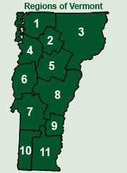 Guide To Vermont Cities Towns Regions Local Information About - Vermont political map