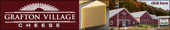 Artisanal handcrafted cheddar cheese from premium cow milk from small Vermont family farms.