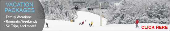 Vermont Vacation Packages - winter image of skiers  at a distance